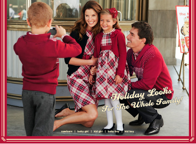 Holiday looks for the whole family