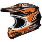 Shoei VFX-W TC-8 Orange Werx Motocross Helmet