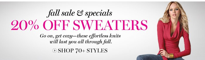 20% OFF SWEATERS