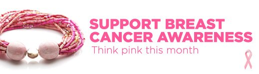 Support Breast Cancer Awareness - Think Pink This Month