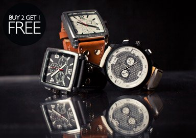Shop All New Watches: Buy 2, Get 1 Free