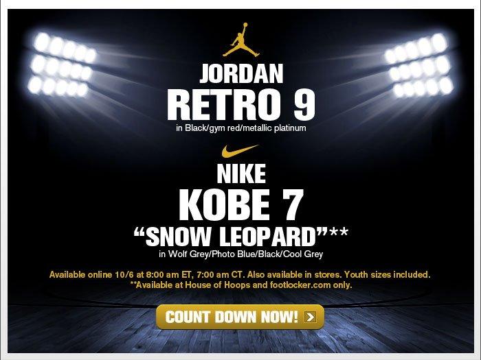 "Foot Locker: 10/6 Releases: Jordan Retro 9 ""Kilroy"" & Nike ..."