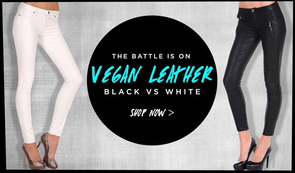 Vegan Leather: Black vs. White - Shop Your Pick!