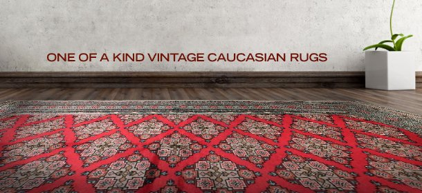 ONE OF A KIND VINTAGE CAUCASIAN RUGS, Event Ends October 9, 9:00 AM PT >