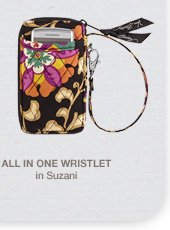 All In One Wristlet in Suzani