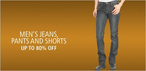 MEN'S JEANS PANTS AND PANTS AND SHORTS