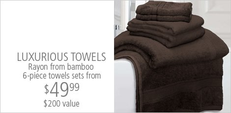 Luxurious Towel 6 piece sets