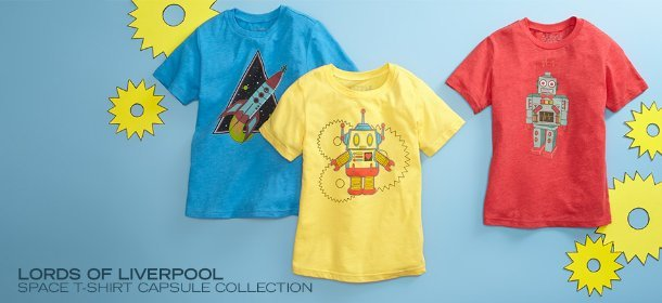 LORDS OF LIVERPOOL: SPACE T-SHIRT CAPSULE COLLECTION, Event Ends October 10, 9:00 AM PT >