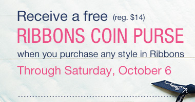 Receive a free Ribbons Coin Purse Through Saturday, October 6
