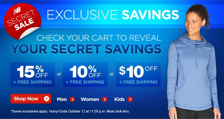 Secret Sale. Check your cart to reveal your savings.