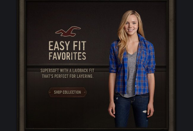 EASY FIT FAVORITES SUPERSOFT WITH A LAIDBACK FIT THAT'S PERFECT FOR LAYERING20% OFF YOUR ENTIRE PURCHASE