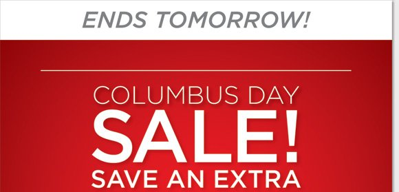 Columbus Day Sale ends tomorrow! Shop a great selection of Sale & Clearance items from Dansko, ECCO, UGG® Australia, Umberto Raffini, MBT and more and save an extra 25%! Plus, join the fight against cancer and shop our exclusive Pink Ribbon Collection! Find the best selection now at www.thewalkingcompany.com.