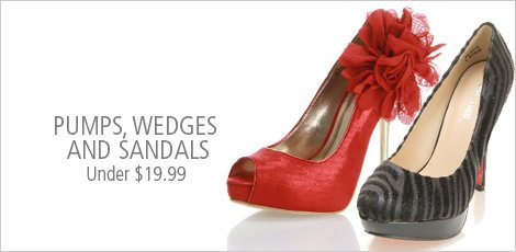 Pumps Wedges and Sandals