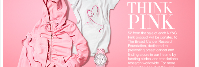 Last two days to use your $100 coupon. See our Think Pink collection. Go Now.