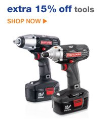 extra 15% off tools | SHOP NOW