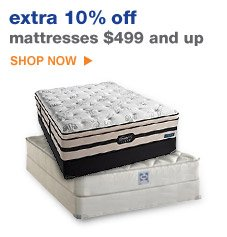 extra 10% off mattresses $499 and up | SHOP NOW