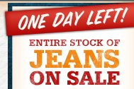 Entire Stock of Jeans Text