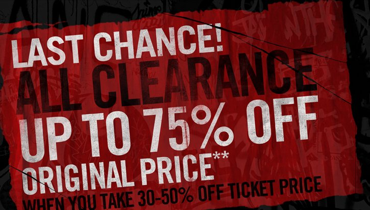 LAST CAHNCE! ALL CLEARANCE UP TO 75% OFF ORIGINAL PRICE**