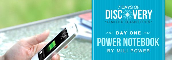 7 Days of Discovery - Day One - Power Notebook by Mili Power