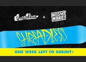 One week left to submit a snowboard design.