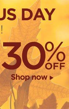 30% OFF. Shop now.