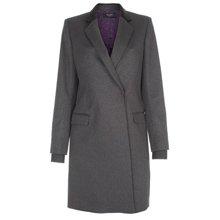 Paul Smith Coats - Grey Double Breasted Epsom Coat