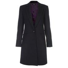 Paul Smith Coats - Black Single Breasted Epsom Coat