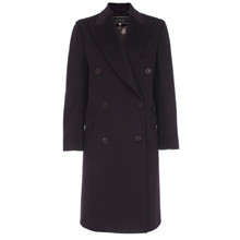 Paul Smith Coats - Purple Double Breasted Wool Overcoat