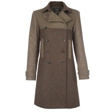 Paul Smith Coats - Green Double Breasted Tweed Coat