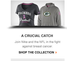 A CRUCIAL CATCH | Join Nike and the NFL in the fight against breast cancer. | SHOP THE COLLECTION