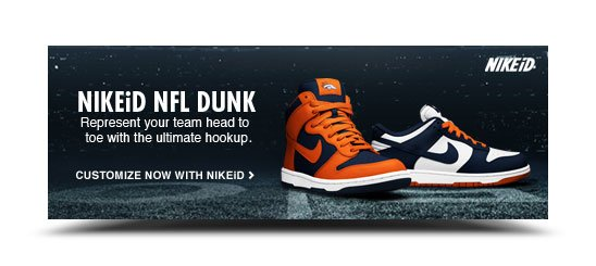 NIKEiD NFL Dunk | Represent your team head to toe with the ultimate hookup. | Customize Now with NIKEiD