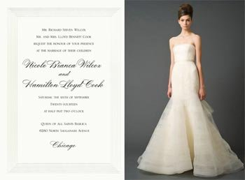 Vera Wang Wedding Invitations Inspired By Vera Wang Wedding Gowns