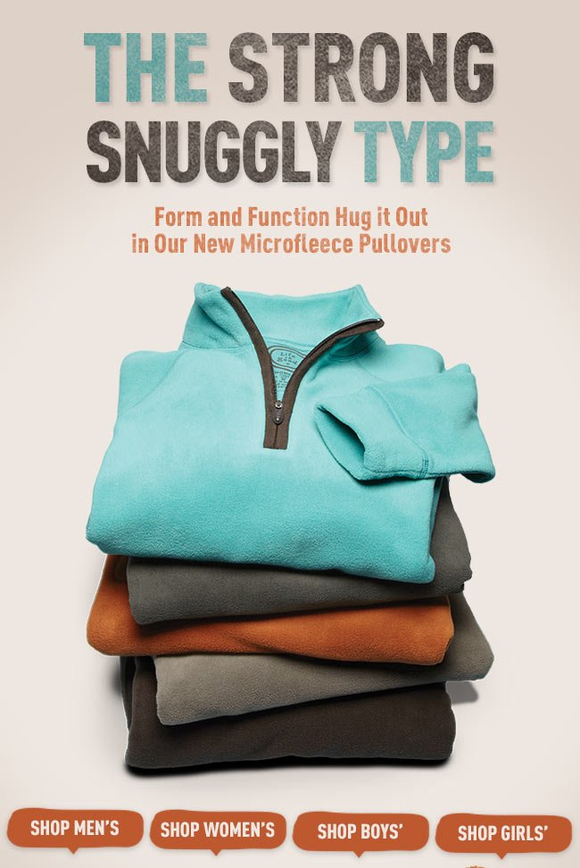 Form and Function Hug it Out in Our New Microfleece Pullovers