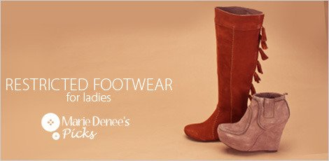 Resctricted Footwear for Ladies