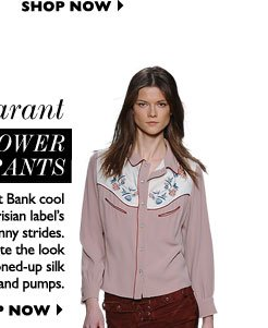 ISABEL MARANT THE POWER PANTS Work Left Bank cool in the Parisian label's cropped skinny strides. Complete the look with a buttoned-up silk blouse and pumps. SHOP NOW