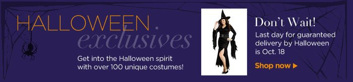 HALLOWEEN exclusives! Over 100 unique costumes – Shop now!