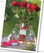 Personalized Red Rose Ceremony Set