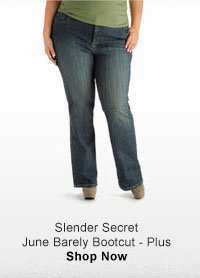 SLENDER SECRET JUNE BARELY BOOTCUT - PLUS
