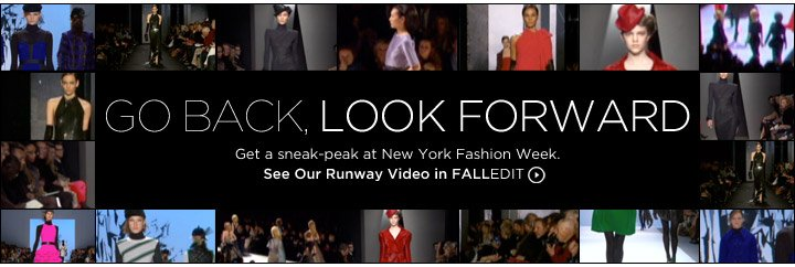 See Our Runway Video in FALLEDIT