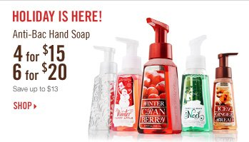 Anti–Bac Hand Soap – 4 for $15 or 6 for 20