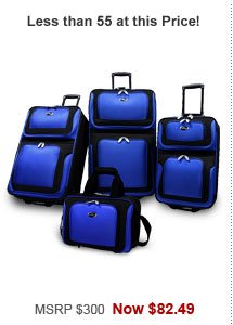 U.S. Traveler New Yorker 4-Piece Luggage Set