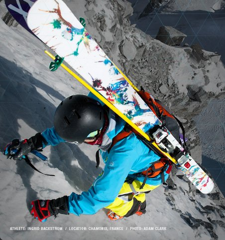 ATHLETE: INGRID BACKSTROM  /  LOCATION: CHAMONIX, FRANCE  /  PHOTO: ADAM CLARK