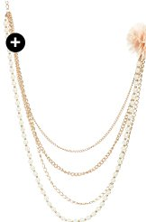 Flower Pearl Swag Necklace