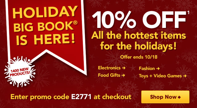 Holiday Big Book Sneak Peek, Save 10% Enter promo code E2679 at checkout.