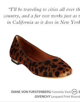 GIVENCHY Leopard Print Round Toe Ballet Flat