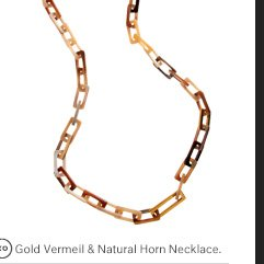 MAIYET Gold Vermeil & Natural Horn Necklace