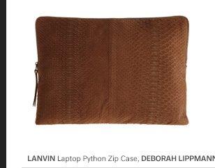 LANVIN Laptop Python Zip Case
