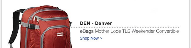 eBags Mother Lode TLS Weekender Convertible | Shop Now