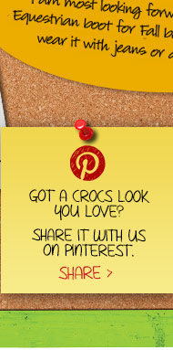 Got A Crocs Look You Love? Share It With Us On Pinterest. Share