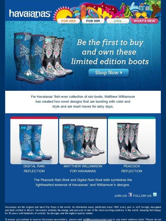 9d2f79963694 Havaianas USA  Havaianas x Matthew Williamson Rain Boot Collection Launches  Now!